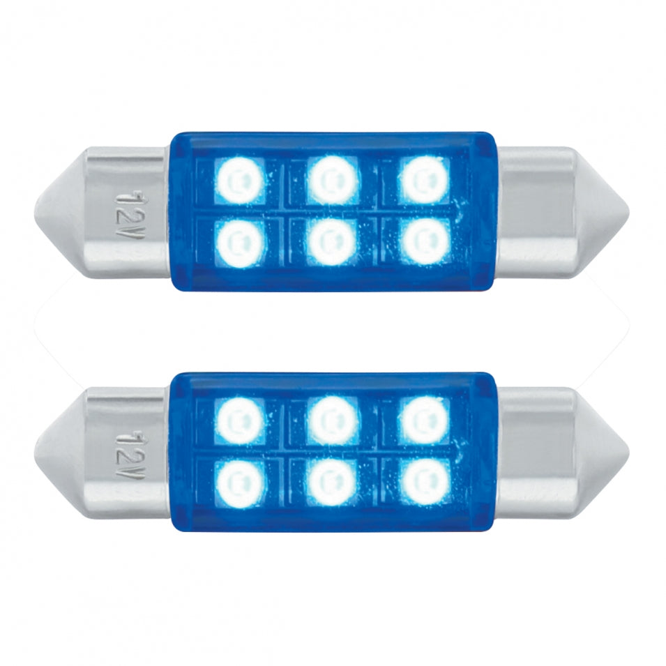 FESTOON STYLE 6 LED 36MM BLUE PR