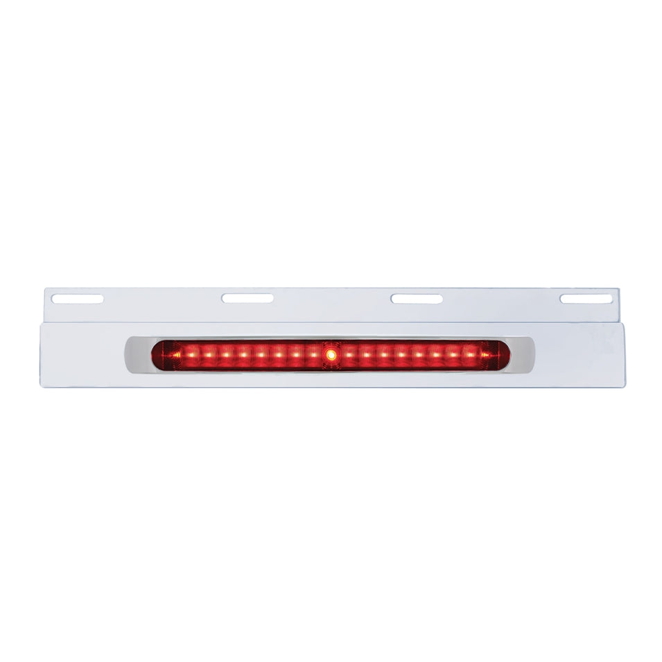 SS TOP FLAP BAR W/ 19 LED RED BAR