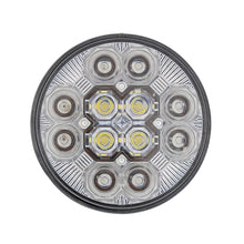 "12 LED 4"" ROUND S/T/T W/ BACK UP CLEAR LENS"