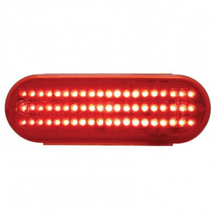 OVAL 60 LED RED/RED