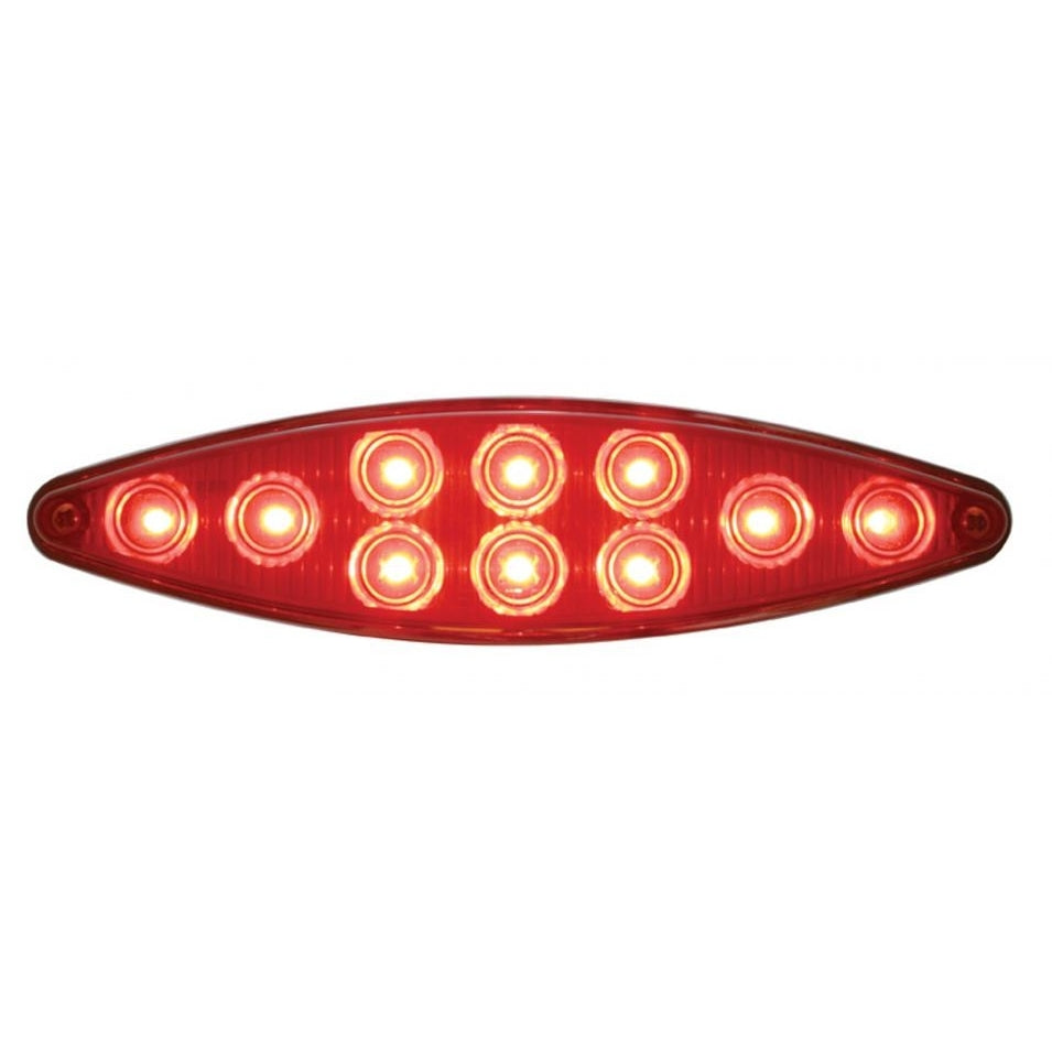 CAT EYE 10 LED RED/RED W/ BEZEL