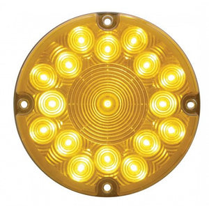 "7"" ROUND AMBER 17 LED LIGHT"