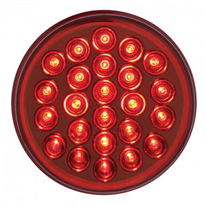 "4"" RED S/T/T 24 LED REFLECTOR LIGHT"