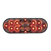 16 LED OVAL S/T/T W/ BACK UP CLEAR LENS