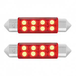 FESTOON STYLE 8 LED 40MM RED PR