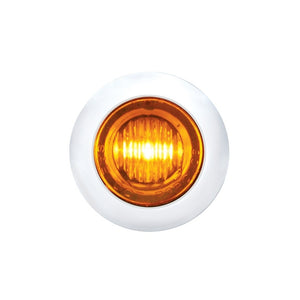 "3/4"" 3 LED AMBER W/ BEZEL 2 WIRE"
