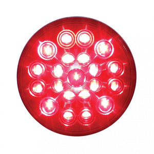 "4"" ROUND 21 LED RED/RED LIGHT"