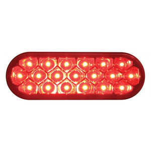 OVAL RED CLEAR 19 LED