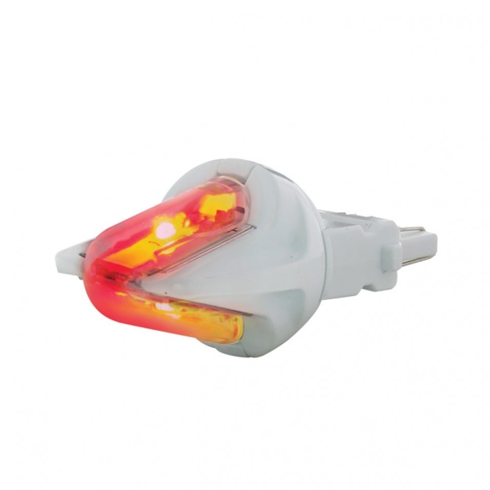 3157 2 LED 250LM RED BULB PAIR