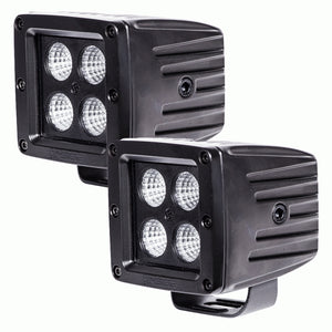 HEISE CUBE 4 LED BLACK OUT 960 LUMENS FLOOD PAIR