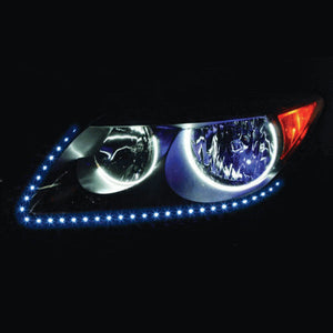 "SIDE VIEW LED STRIP 24"" 60 LED BLUE PAIR"