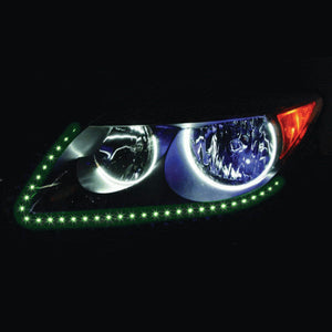 "SIDE VIEW LED STRIP 24"" 60 LED GREEN PAIR"