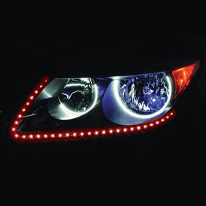 "SIDE VIEW LED STRIP 24"" 60 LED RED PAIR"