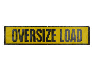 "OVERSIZE LOAD SIGN 14""X60"""