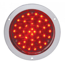 "4"" ROUND 40 LED DEEP CHROME  RED"