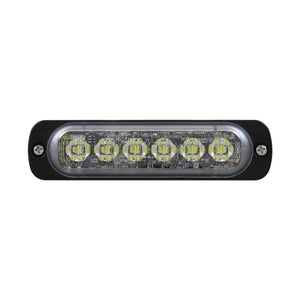 STROBE 6 LED SLIM SEQUENTIAL AMB