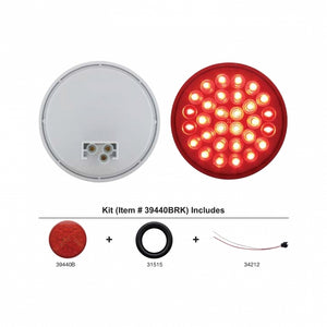 "30 LED 4"" RND S/T/T RED CARD"