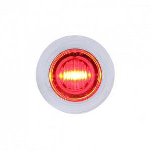 "3/4"" LED RED/CL W/ BEZEL 3 WIRE"