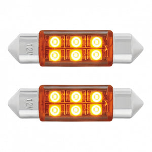FESTOON STYLE 6 LED 36MM AMBER PR