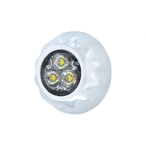 STROBE 3 LED MINI WARNING WHITE/CL