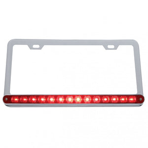 LIC PLATE W/ 14 RED LED