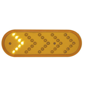 SEQ ARROW AMBER LED OVAL