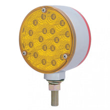 "18 LED 4"" ROUND AMB/RED POST LT"