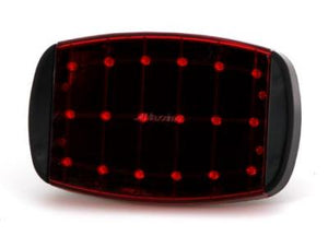 MM LED BATTERY STROBE RED RECT