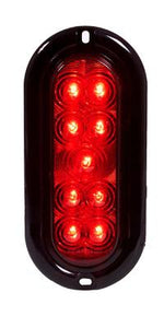 OVAL RED STT FLANGE MT 9 LED