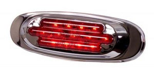 CHROME OVAL LED RED