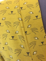 Glow in the dark cat eyes fabric