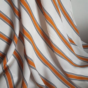 Mustard Stripe Viscose