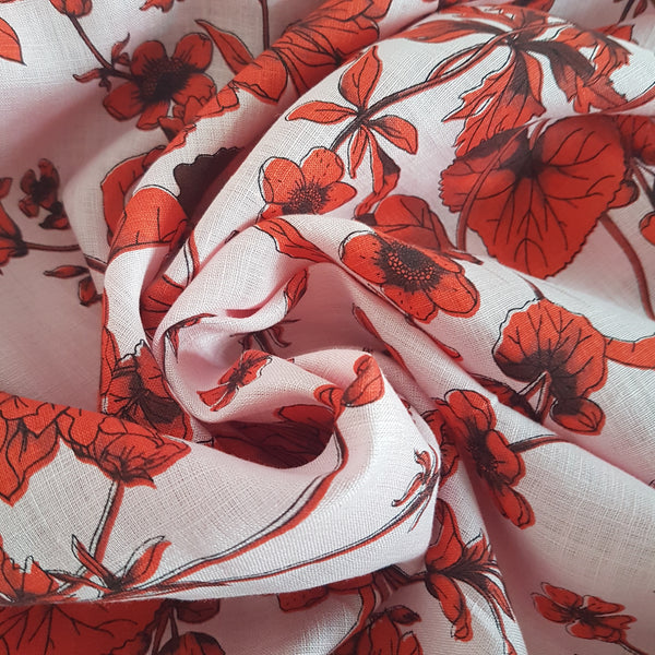Printed Linen Floral