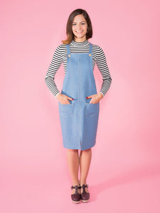 Cleo Pinafore Dress - Tilly and the Buttons