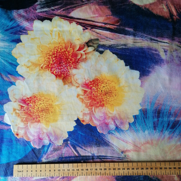 Summer Flowers Italian Cotton