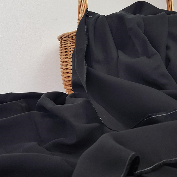 black sandwashed tencel fabric UK