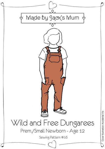 MBJM Wild and free kids overalls sewing pattern