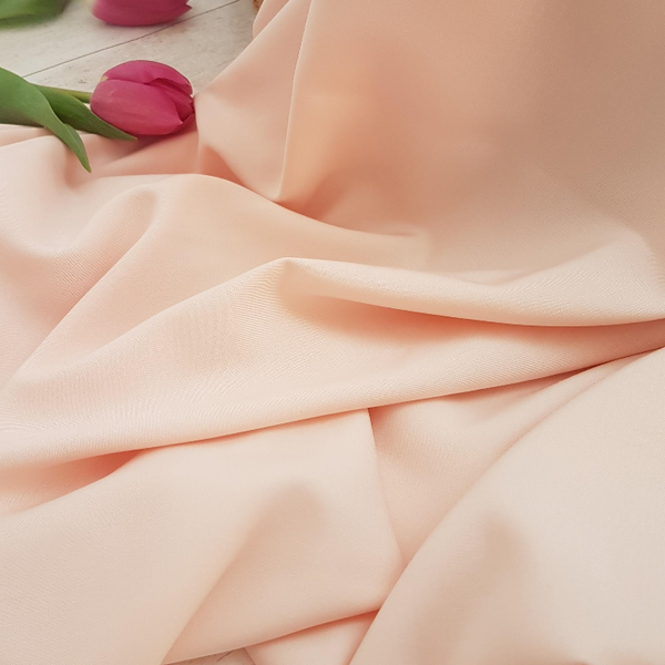 blush pink viscose rayon twill