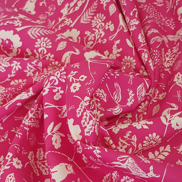 art gallery fabrics pink cotton lawn UK