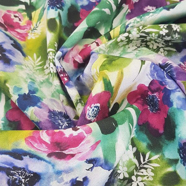 Watercolour Floral Cotton
