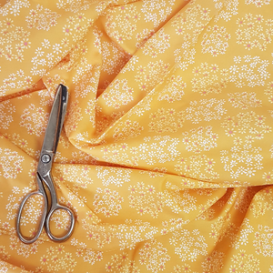 bright yellow cotton lawn UK