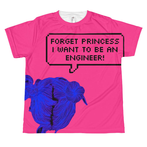 Forget Princess Be an Engineer Youth Power Pink T-Shirt