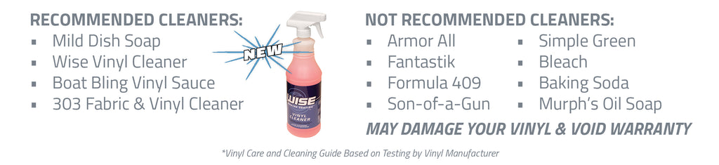 Wise Marine Vinyl Cleaner Recommended for All Boat Seats