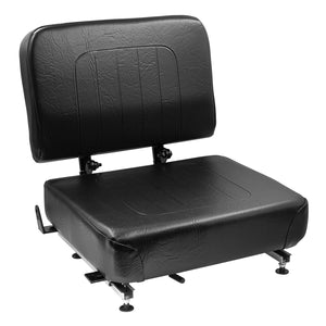 Wise Industrial 1745P Universal Forklift Seat w/ Folding Back Rest