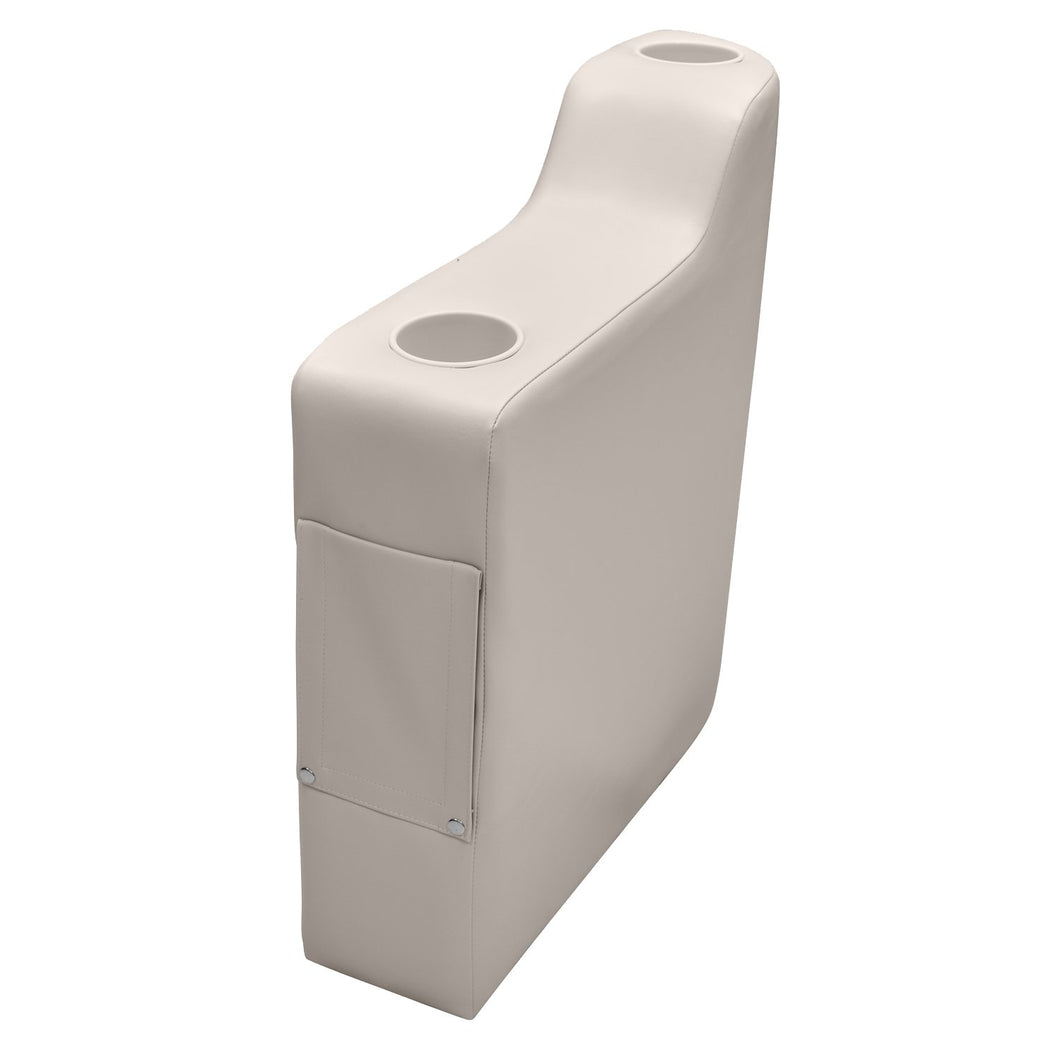 Wise 3009-990 Premier Left Radius Arm Rest - Aftermarket Pontoon Furniture