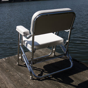 Wise 3316 Boaters Value Folding Deck Chair - Rear View