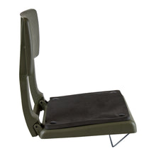 Wise 5410 Folding Plastic Canoe Seat w/ Back Rest - Side View