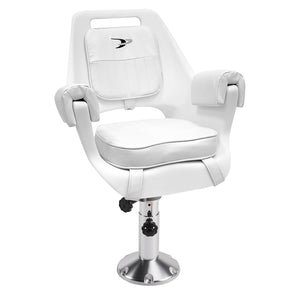 8WD007-7-710 Deluxe Pilot Chair & Cushions w/ Adjustable Pedestal & Spider Mount
