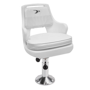 "Wise 8WD015-7-710 Deluxe Pilot Chair & Cushions w/ 15"" Fixed Pedestal & Spider Mount"