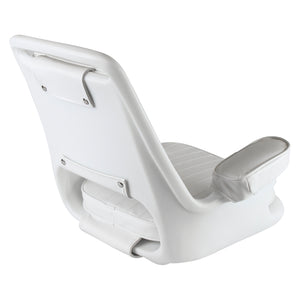 Wise 8WD1007-3 Offshore Captain's Chair w/ Armrest - Rear View
